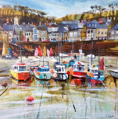 CO15 Mouse hole Fishing Boats     original SOLD      print available   £65