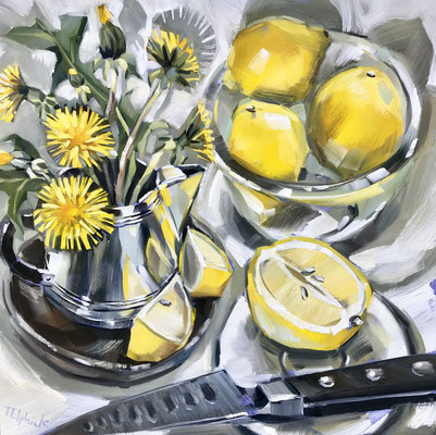 SLO38 Lemons & Dandelions sold print available    £65