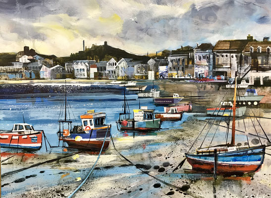 "St.  Mary's Harbour, Evening Light 12""x16""+frame £295print available"