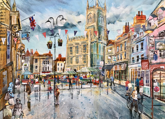 Cirencester in Spring commission Print Available