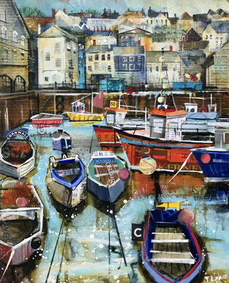 """CO30 Mevagissey in Autumn 12""""x15""""+frame £325 print available"""