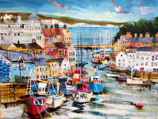 SC14 Weymouth Harbour 2 SOLD Print Available