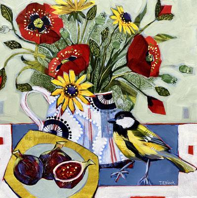 SLB50 Greatit, Poppies & Figs Original sold      print £65