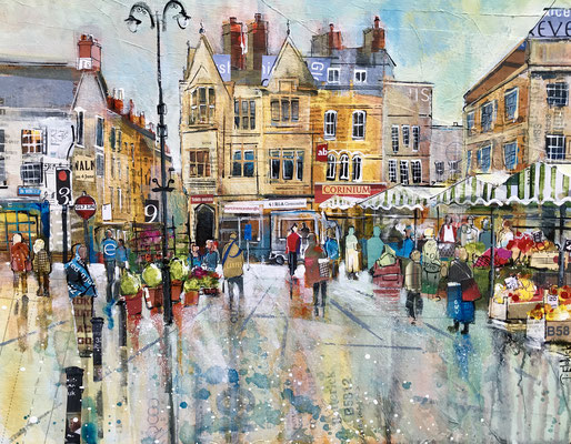 "Winter Market, 12""x16""+frame £295 print available"