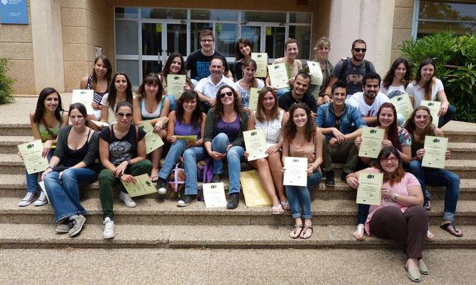 Nuestros alumnos de la Facultad de Biología de la Universitat de Mallorca después del curso-exploración de Senegal (2013)