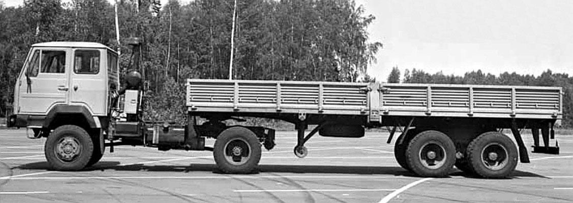 Прототип КАЗ-44302 — полноприводный седельный тягач