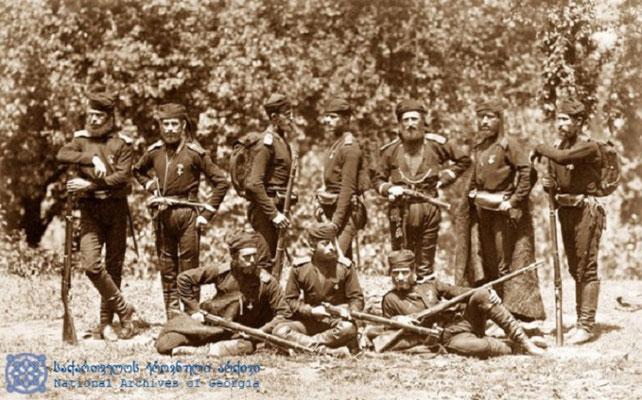 Грузинские солдаты на Цихисдзири