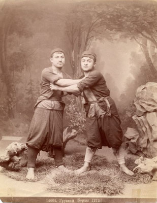 Грузинская борьба «чидаоба» или «мочидаве» (до 1899 года)