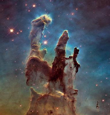 """""""Звездное скопление """"Столпы Творения"""", снимок NASA, 1995 год."""