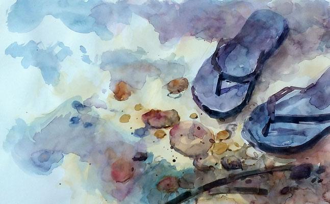 """Boceto """" El verano """" DIN A4"""