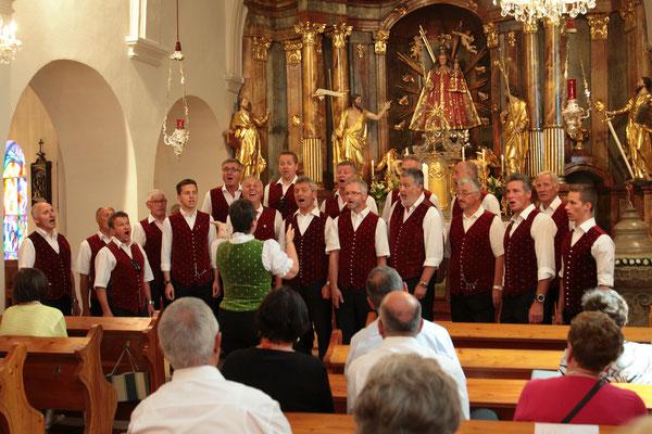 Am nächsten Tag ein kleines Konzert in der Kirche......