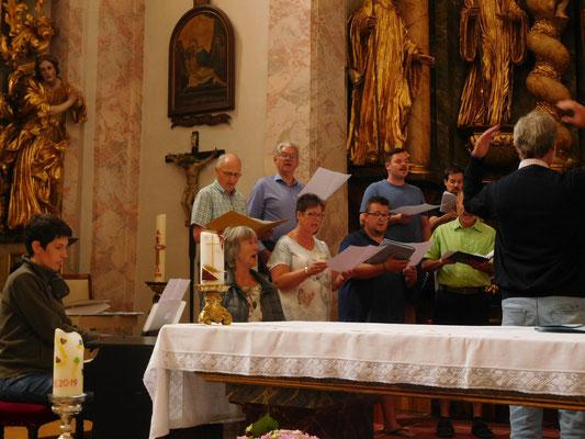 Generalprobe in der Stiftskirche,