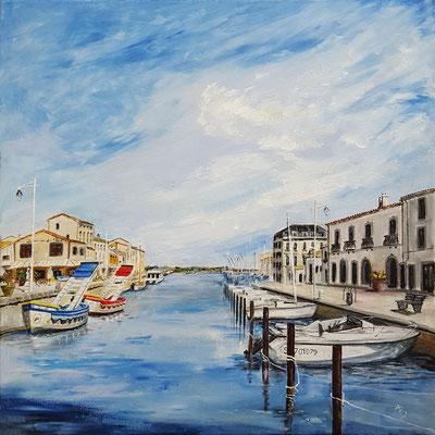 13  Port de Marseillan - acrylic 50x50