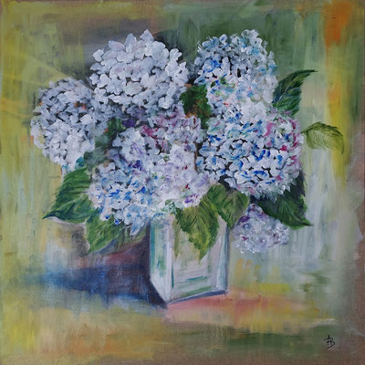 14 Hortensias - acrylic 50x50