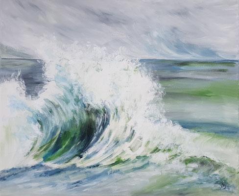 8 A wave - acrylic 50x61