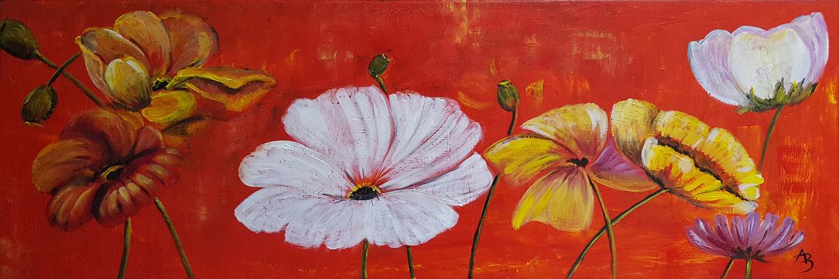 11 Fleurs sans jardin - acrylic 30x90