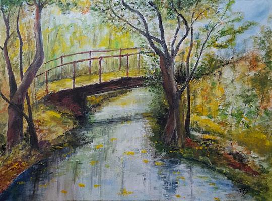 24 Le petit pont de bois - acrylic 60x81