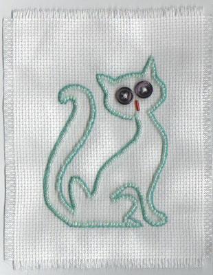 chat en perles et boutons