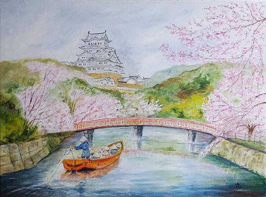 25 Escapade à Himeji - acrylic 60x81