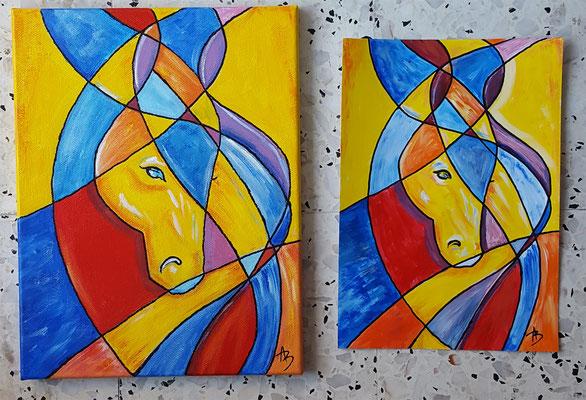 19 bis reproduction - acrylic 35x30 toile  29x21 papier
