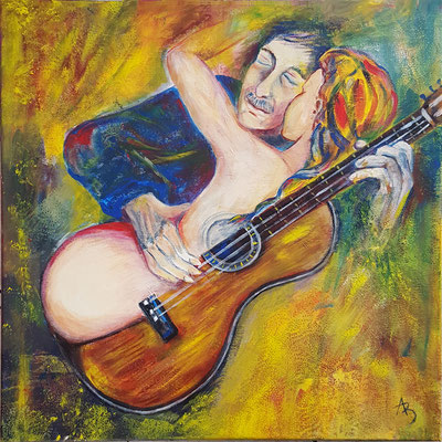 2 Fantasme du guitariste - acrylic 50x50