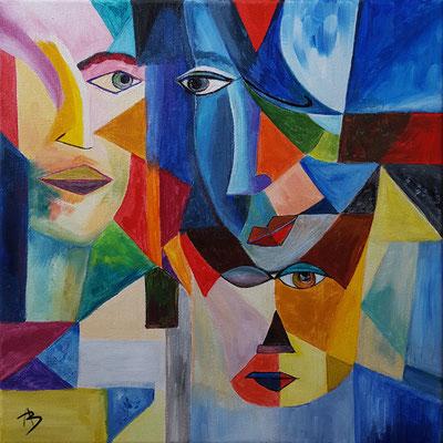 23 Trio - acrylic 40x40
