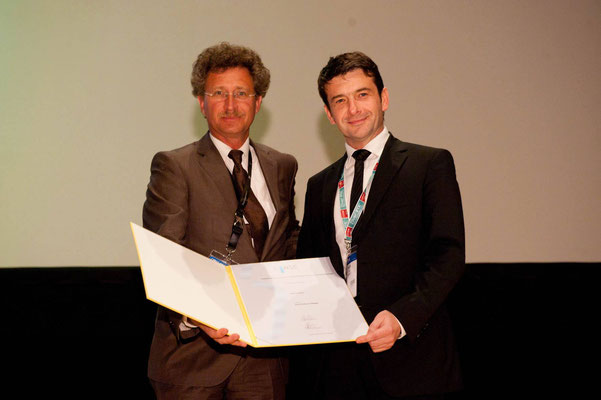 Editors' Medal '10: From left to right: Prof. Vorwerk (Past CVIR EiC), Prof. Pech (awardee)