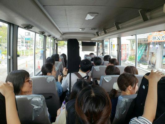 2018合宿 バスにて