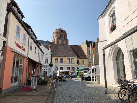 Blick vom Museum zum Marktplatz Wolgast