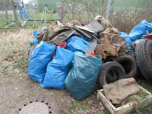 Gesammelter Müll vom Breitlingerufer