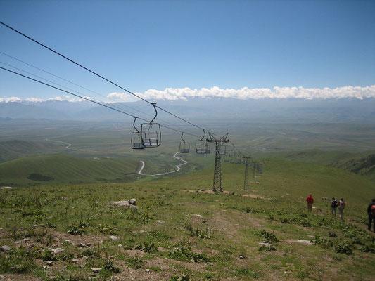 Station de ski, la seule remontée mécanique