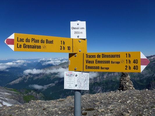 Au sommet du Cheval Blanc, plus haut point du tour