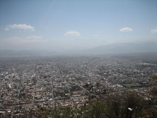 Une partie de la ville de Salta