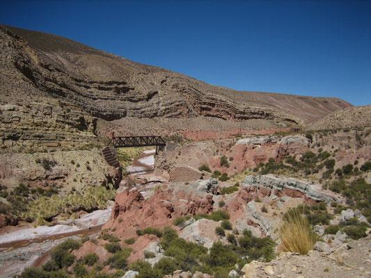 Ancien pont ferroviaire de la ligne Argentine-Bolivie, abandonnée aujourd'hui