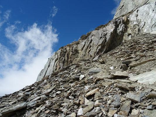 Au col Oberaarjoch, début de la montée au refuge Oberaarjochhütte (3256m)