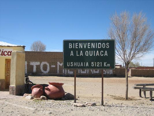 Distance traversée Nord-Sud de l'Argentine