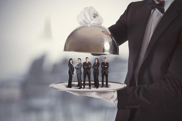 Ein Service-Team wird präsentiert