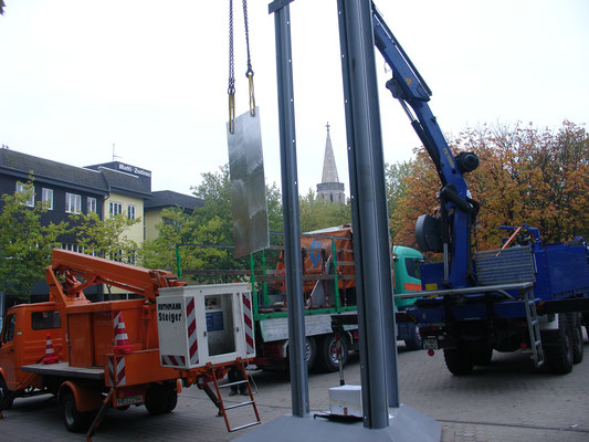 Aufbau der Museumssäule