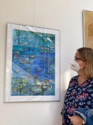 Seerosen nach Monet von Karin Grillberger