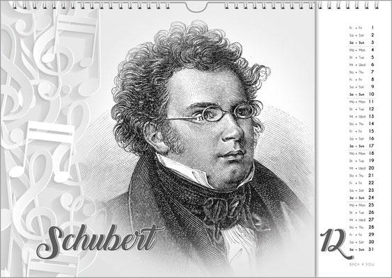 Musik-Geschenk Komponisten-Kalender 63 im Dezember.