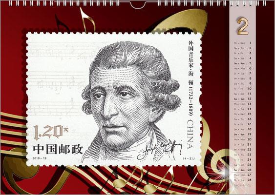 Der Komponisten-Kalender 48 im Februar.