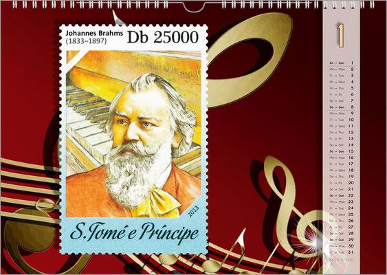 Der Komponisten-Kalender 48 im Januar.