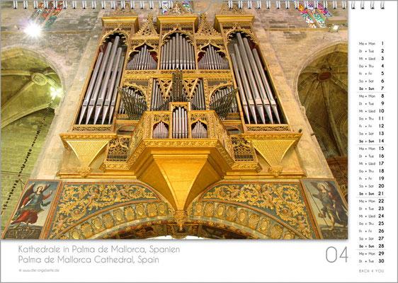 Der April im Orgelkalender 2019.
