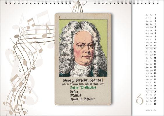 Musik-Geschenk Komponisten-Kalender 66 im Juni.