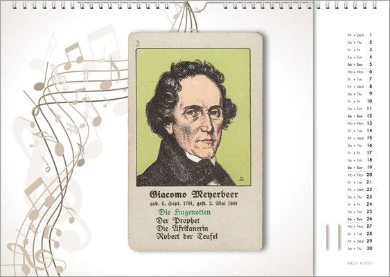 Musik-Geschenk Komponisten-Kalender 66 im November.