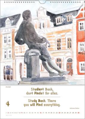 Musik-Geschenk Bach-Kalender 70 im April.