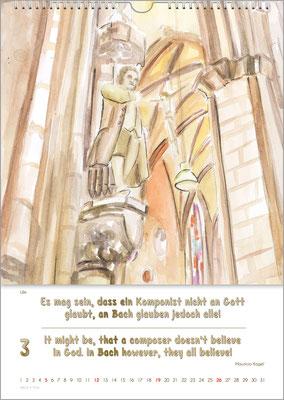 Musik-Geschenk Bach-Kalender 70 im März.