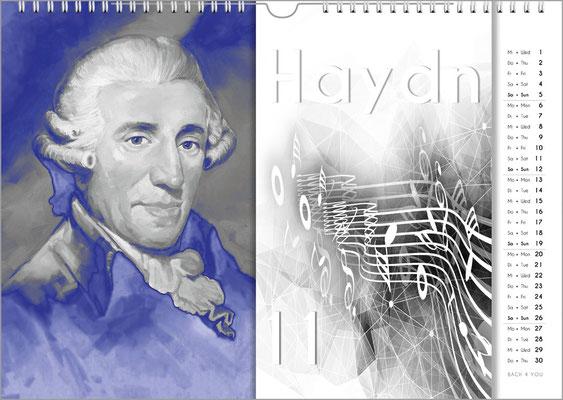 Musik-Geschenk Komponisten-Kalender 57 im November.