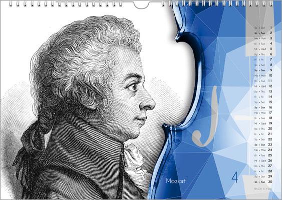 Der Komponisten-Kalender 49 im April.