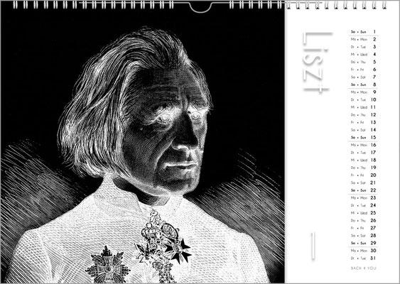 Musik-Geschenk Komponisten-Kalender 50 im Januar.